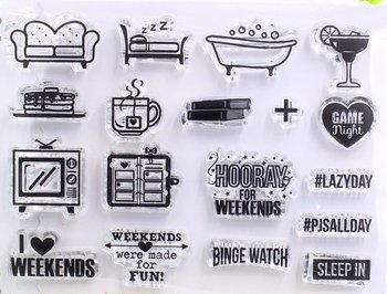 Clear Stamp Sheet | Weekend Plans