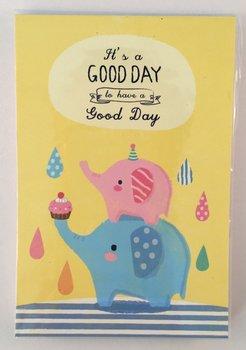 Good Day Medium Memopad   Elephants