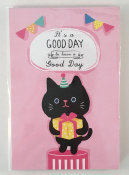 Good Day Medium Memopad   Birthday Cat