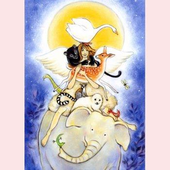 Postkarte Geertje van der Zijpp   Tierengel