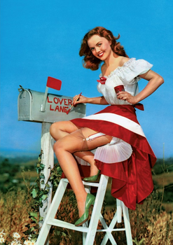Postcard 1950s Pin Up Photograph | Lovers Lane