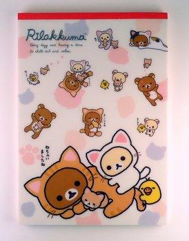 San-X Rilakkuma Cat Letter Paper Pad