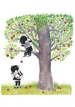 Fiep Westendorp Postcards | Jip en Janneke plukken appels