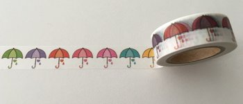 Washi Masking Tape | Rainbow Umbrella
