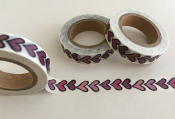 Washi Masking Tape | Small Purple Hearts