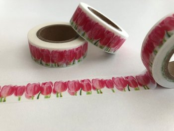 Washi Masking Tape | Red Tulips