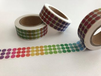 Washi Masking Tape | Rainbow Dots