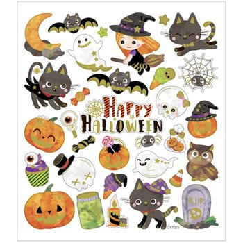 Halloween Seal Sticker with Gold Foil