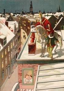 Postcard | P.J. van Geldorp (1872-1939) - Sinterklaas