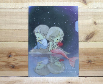 Amy and Tim Collection A4 Plastic File Folder | Mermaid