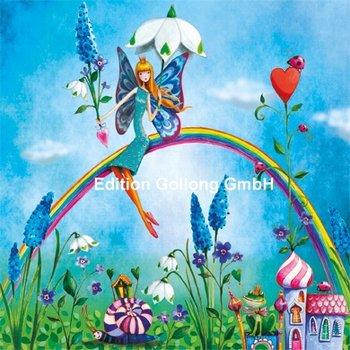Mila Marquis Postkarte   Elfe auf Regenbogen