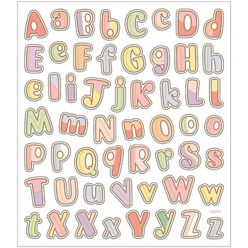 Seal Sticker with Glitter Foil | Alphabet