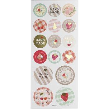 Round Seal Sticker with Glitter Foil   Handmade