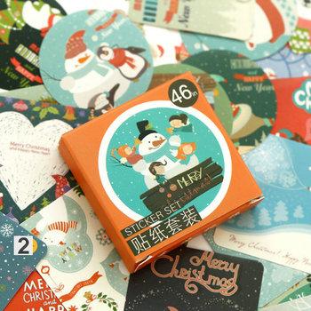 Sticker Flakes Box | Merry Christmas Snowman