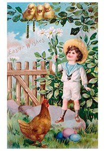 Victorian Postcard | A.N.B. - Easter wishes