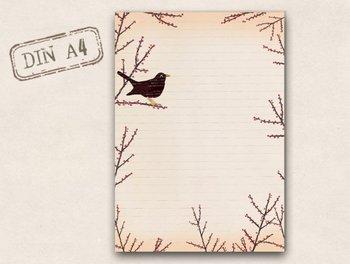 A4 Letter Paper Pad TikiOno | Blackbird