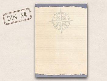 A4 Letter Paper Pad TikiOno | Wind Rose