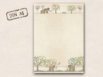 A5 Letter Paper Pad TikiOno | Mammoths