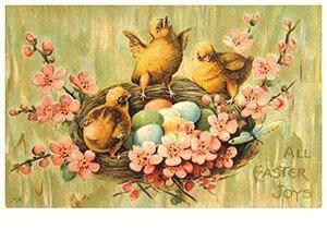 Victorian Postcard | A.N.B. - All easter joys