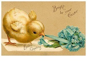 Victorian Postcard | A.N.B. - Bright be your easter