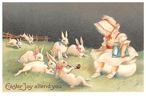 Victorian Postcard | A.N.B. - Easter joy attend you