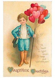Victorian Valentine Postcard | A.N.B. - Valentine greetings