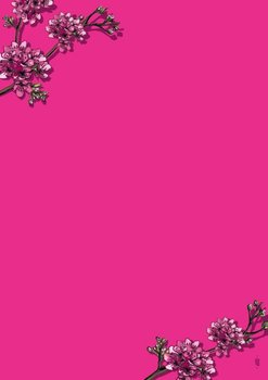 A5 Letter Paper Pad Illi | Pink Sakura