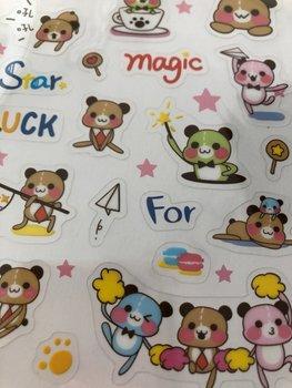 Clear seal sticker Funky Bear