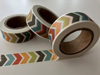 Washi Masking Tape | Coloured Chevron