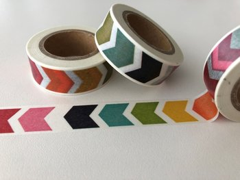 Washi Masking Tape | Thick Rainbow Chevron