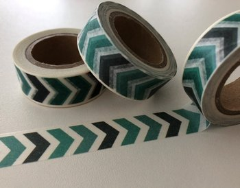 Washi Masking Tape | Aqua Chevron