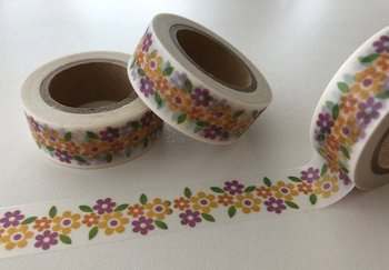 Washi Masking Tape | Cute Little Yellow/Purple Flowers