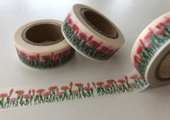 Washi Masking Tape | Carnations
