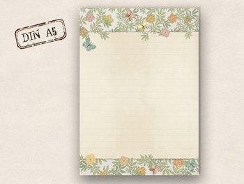 A5 Letter Paper Pad TikiOno | Butterflies