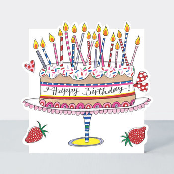 Rachel Ellen Designs Cloud Cuckoo Land - Happy B'day Cake & Candles