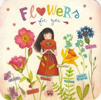 Mila Square Postcard | Flowers for you
