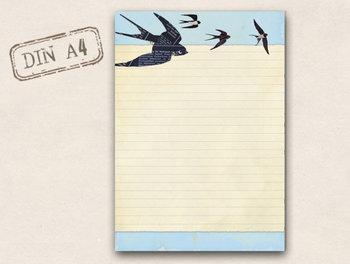 A4 Letter Paper Pad TikiOno | Swallows