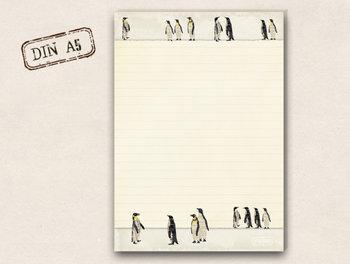 A5 Letter Paper Pad TikiOno | Penguins