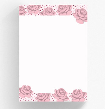 A4 Letter Paper Pad crissXcross | Roses