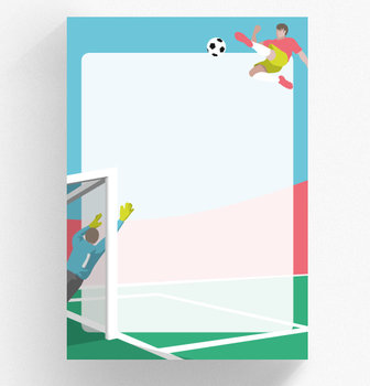 A5 Letter Paper Pad crissXcross | Soccer