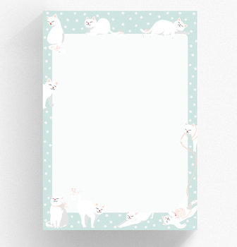 A5 Letter Paper Pad crissXcross | Cats