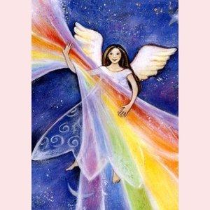 Postcard Geertje van der Zijpp | Angel of the Rainbow