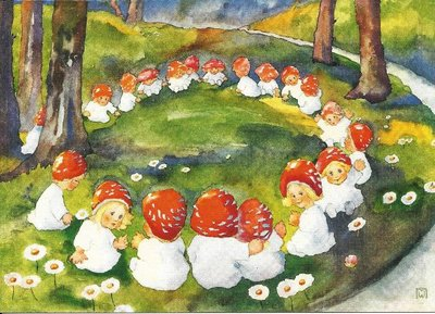 Postcard Mili Weber - Mushroom circle