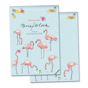 A4 Letter Paper Pad - Flamingo