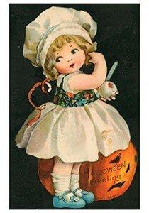 Victorian Halloween Postcard   A.N.B. - Halloween greeting