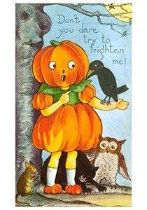 Victorian Halloween Postcard | Halloweentafereel
