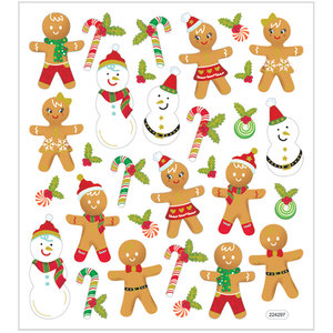 Seal Sticker with Gold Foil | Gingerbread