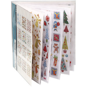 Christmas Sticker Book with Glitter Foil | 12 sheets