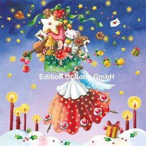 Nina Chen Postcard Christmas | Engel met geschenken