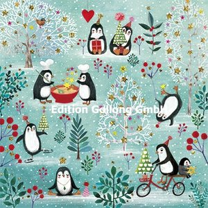 Mila Marquis Postcard Christmas | Penguins